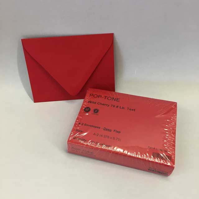holiday red a2 envelopes 4 3 8 x 5 3 4 50 pack donahue paper
