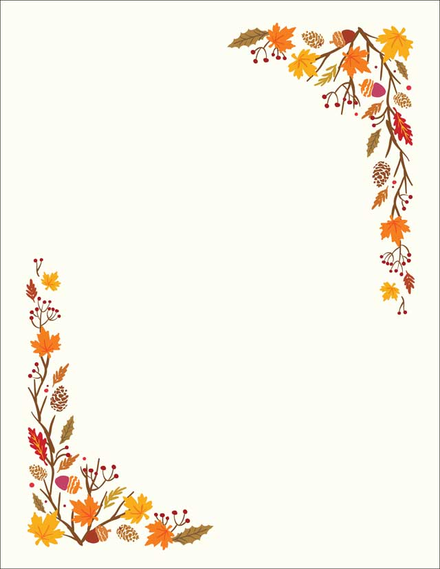 fall florals stationery 50 sheets donahue paper emporium